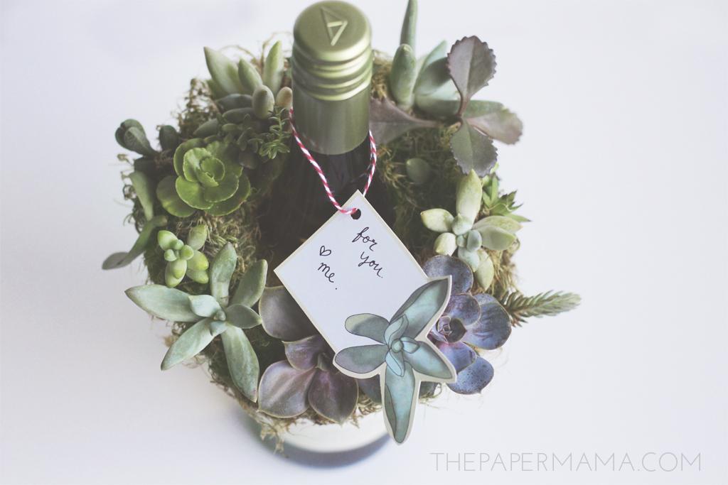 Succulent Gift Tag Printable // thepapermama.com