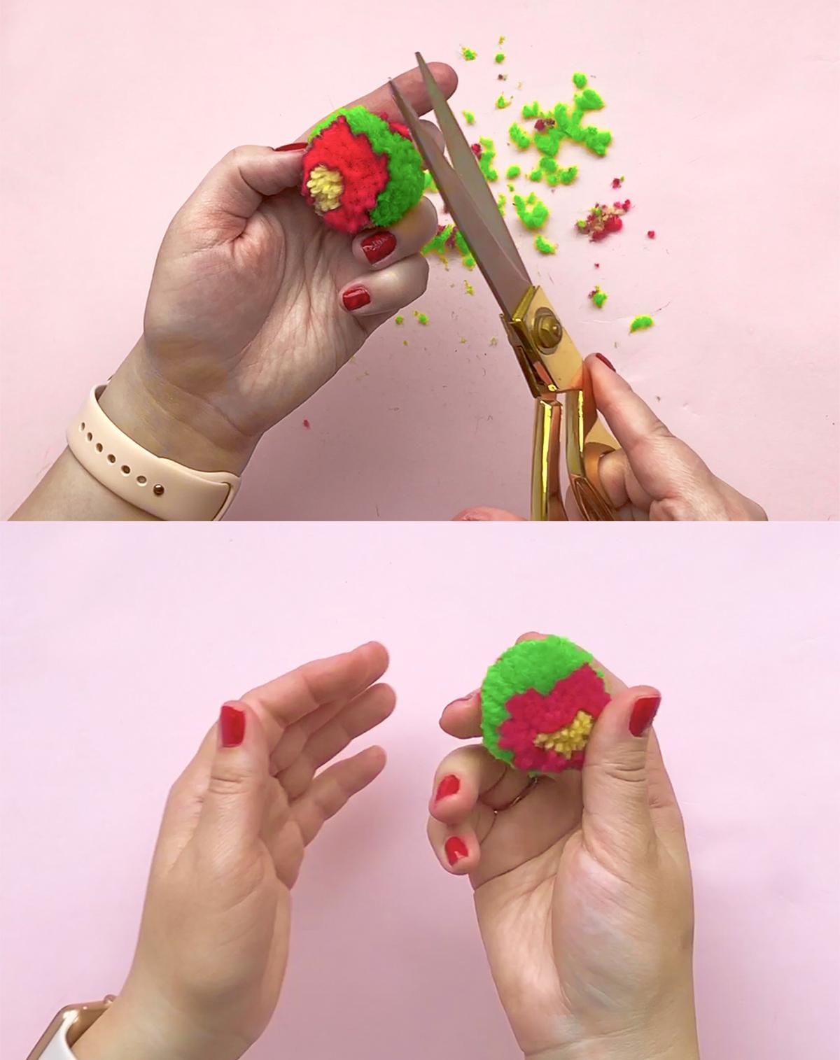 DIY Flower Pom Pom