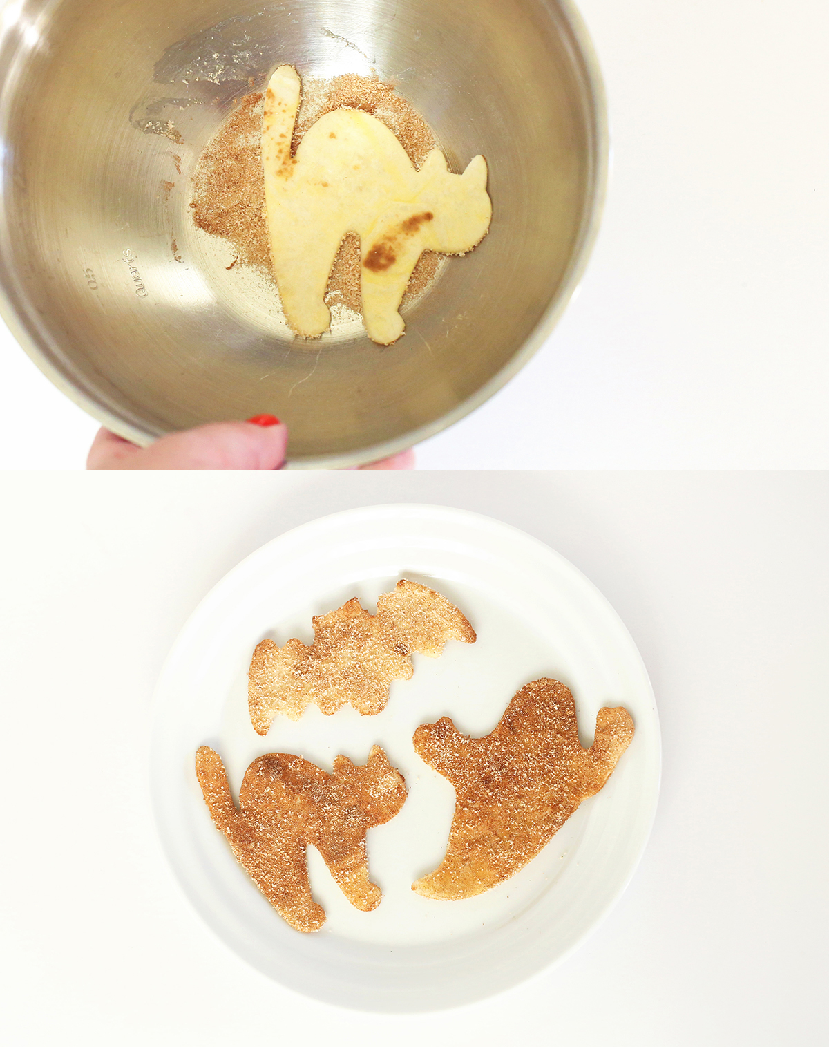 Sweet and Spooky Cinnamon Chips for Halloween