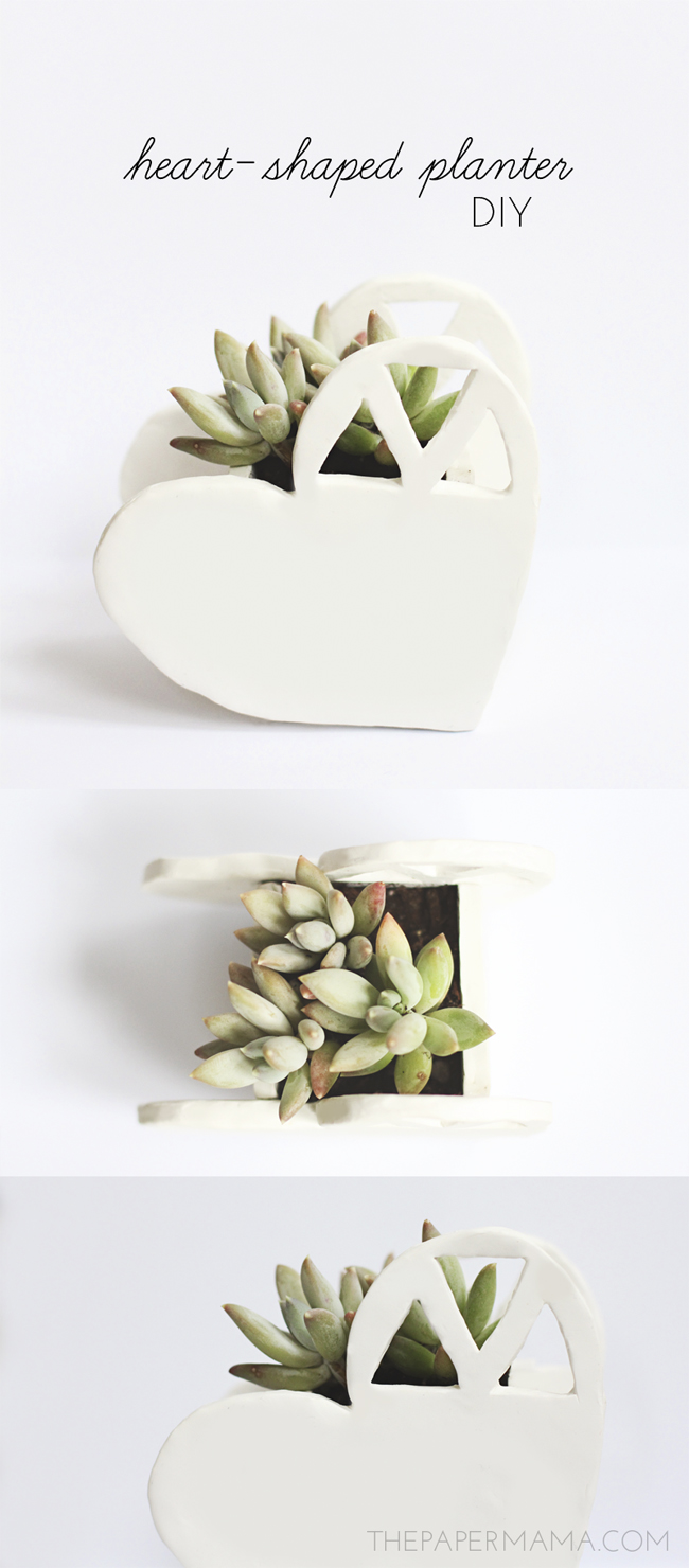 Heart-Shaped Planter DIY // thepapermama.com