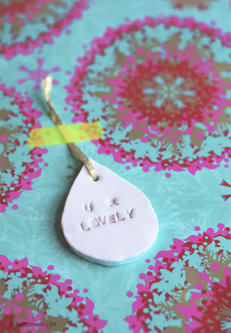 Clay Gift Tag DIY