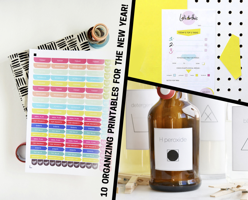 10 Organizing Printables for the New Year!