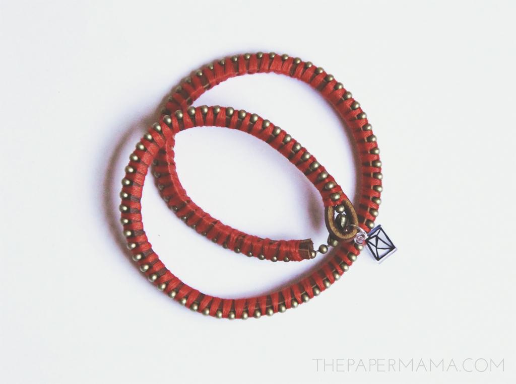Wrapped Charm Bracelet on Hp Create // thepapermama.com