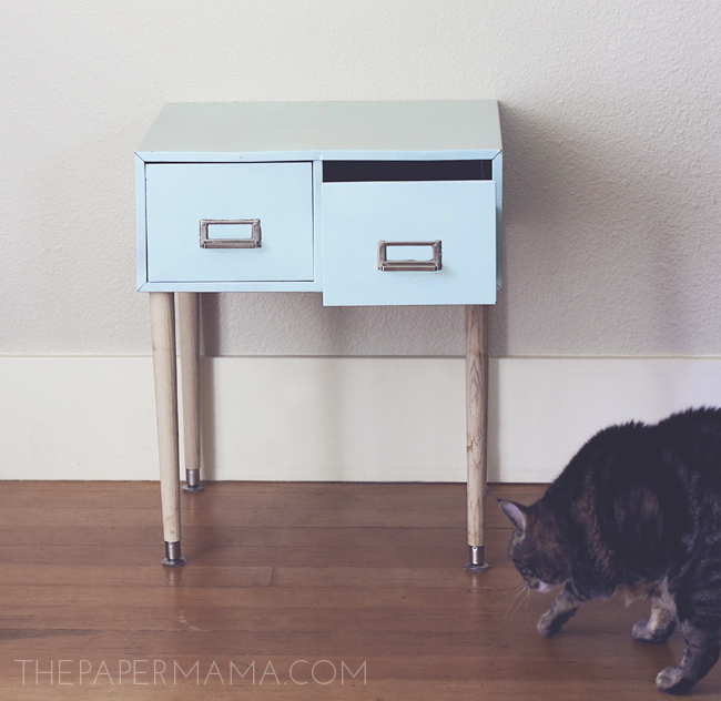 Filing Cabinet Side Table // thepapermama.com
