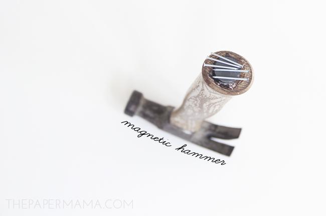 Magnetic Hammer DIY // thepapermama.com