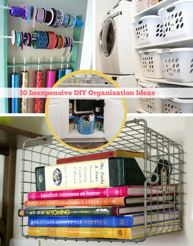 Diy ify 10 inexpensive diy organization ideas interior Cheap and easy organizing ideas