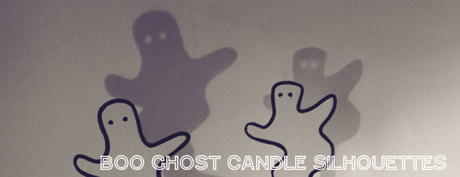 Boo Ghost Candle Silhouettes (with free printable)