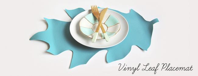 Vinyl Leaf Placemat DIY (and printable pattern)