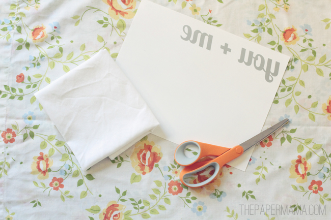 You Plus Me Pillow DIY