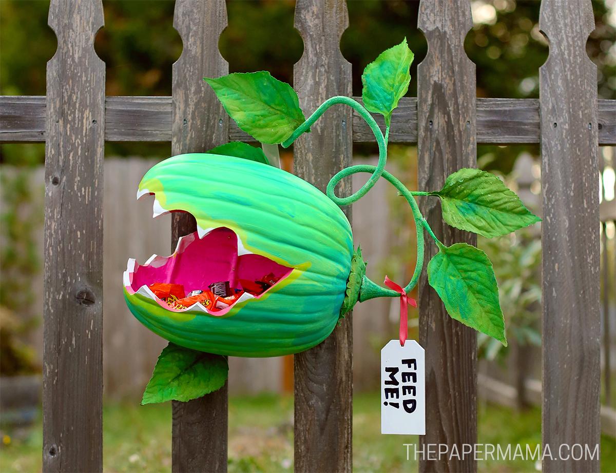 Venus Fly Trap Pumpkin Candy Holder DIY