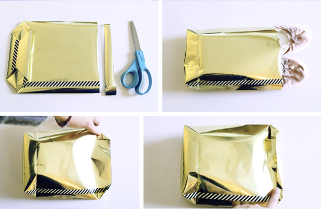 Mini Gift Bag Made Out of Wrapping Paper DIY