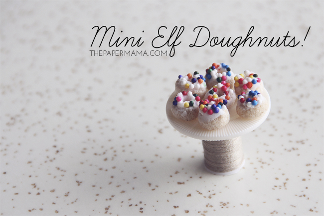 Day 29 of my 50 DIY Days of Christmas: Mini Elf Doughnuts // thepapermama.com