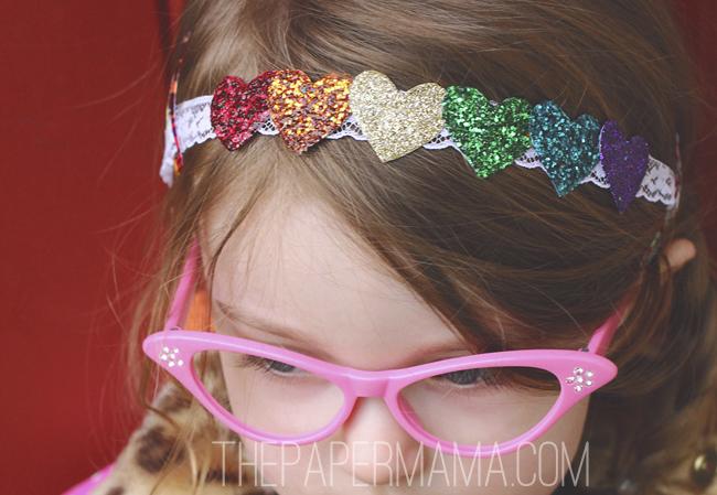 Rainbow Heart Headband // thepapermama.com