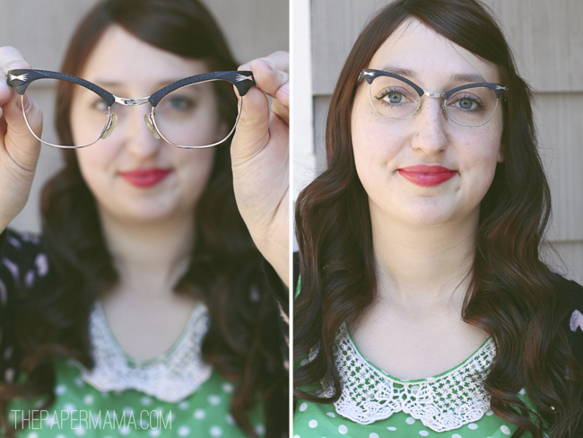 Cateye Glasses // thepapermama.com