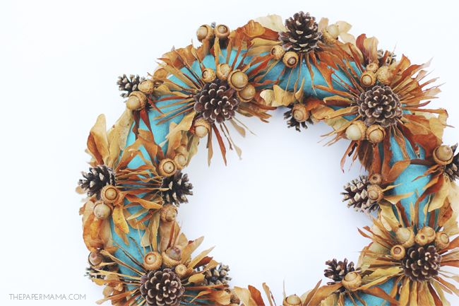 Maple Tree Seed Fall Wreath DIY // thepapermama.com