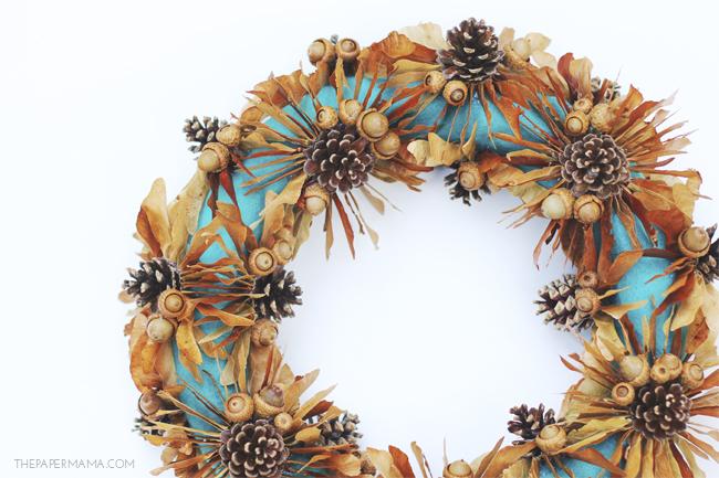 Maple Tree Seed Fall Wreath DIY // thepapermama.com