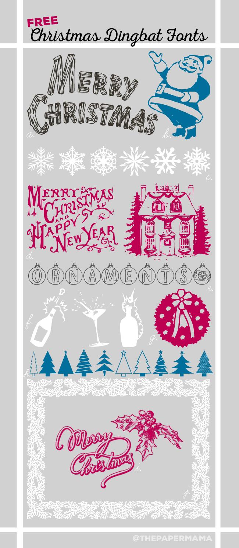 Free Christmas Dingbat Fonts