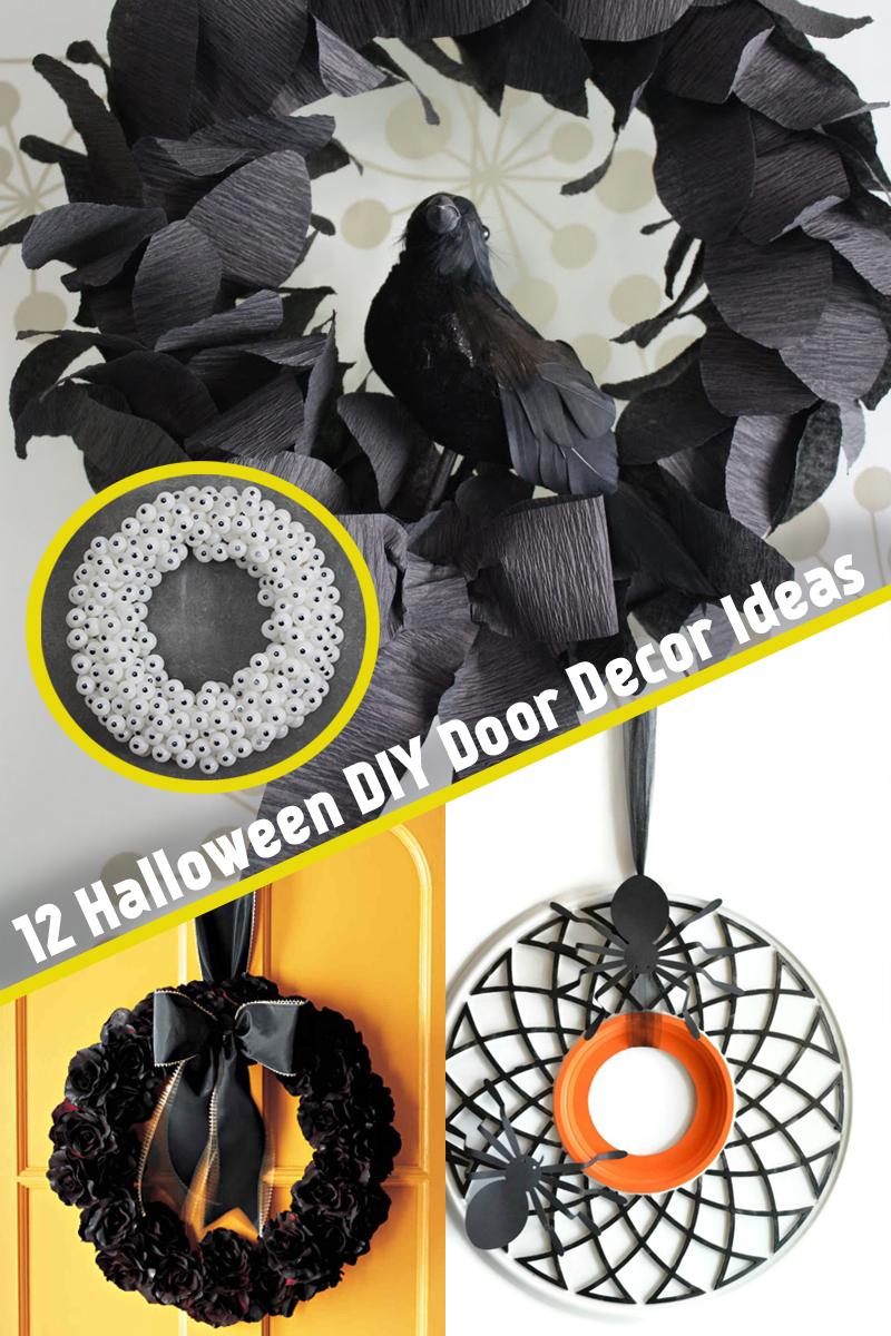 12 Halloween DIY Door Decor Ideas