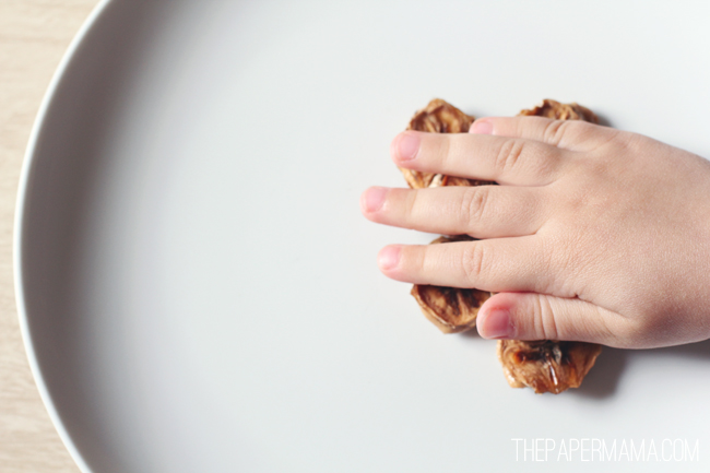 Peanut Butter Banana Chip Bites // thepapermama.com