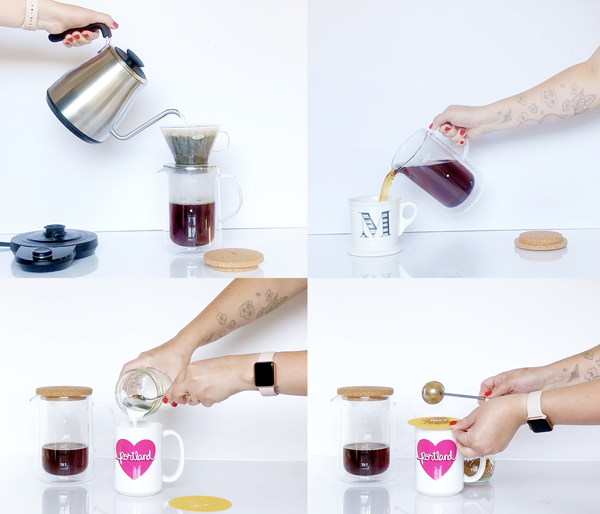 How to Make Latte Art with Free Downloadable Stencils + Two Frothing Milk Methods
