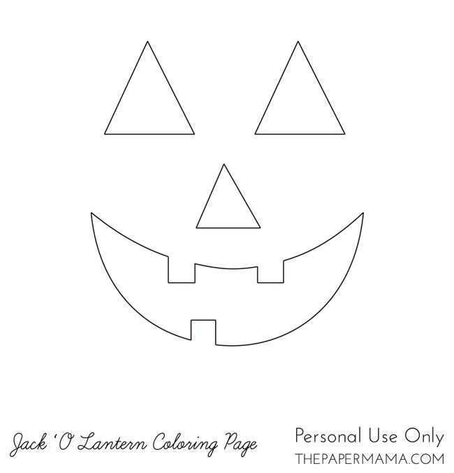 Jack 'O Lantern Coloring Page // thepapermama.com