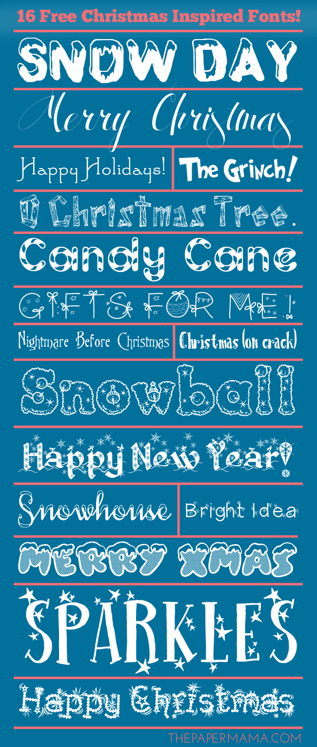 16 Free Christmas Inspired Fonts