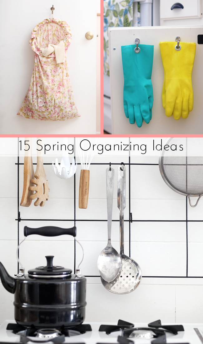 15 Spring Organizing Ideas on the Better Homes and Gardens Blog.