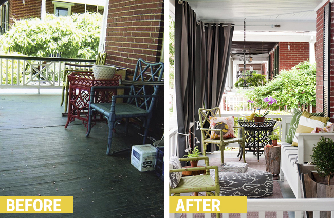 Do you have a porch that gets a lot of sun? Or, maybe there's something you don't want to view from your porch? Found on BHG.