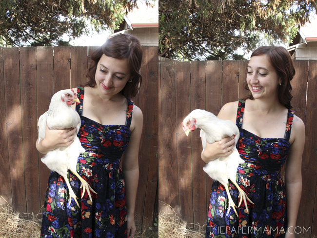 A Girl and Her Chicken // thepapermama.com
