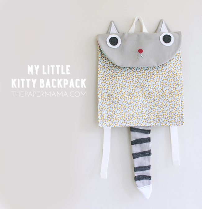 Kitty Backpack DIY, The Paper Mama.
