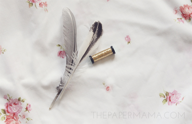 Painted Feather Ornament // thepapermama.com