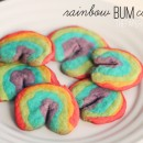 rainbow bum cookies