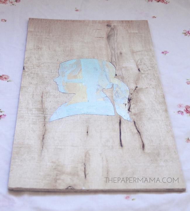 Painted Silhouette Kid Craft // thepapermama.com