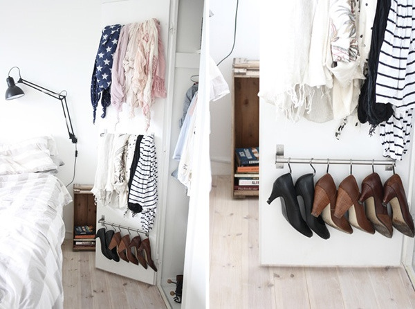 If you don't want to buy a bunch of clear containers for shoe storage, check out this shoe rack IKEA hack, found on Curbly.