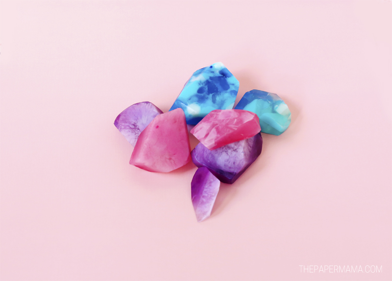 Pretty Gemstone Soap DIY