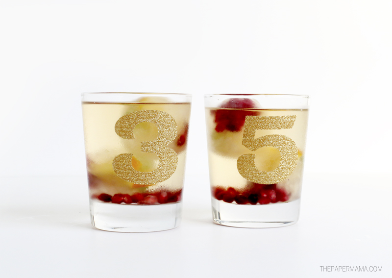 Festive Christmas Wine Ice Cubes