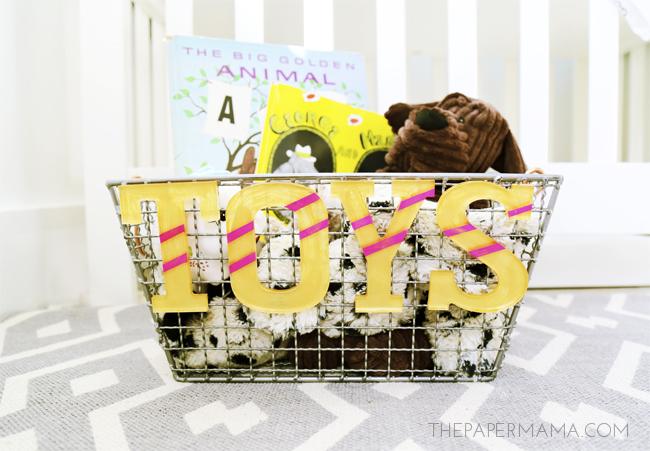 Mini Toy Basket DIY - Encourage Your Kids To Pick Up Their Toys!