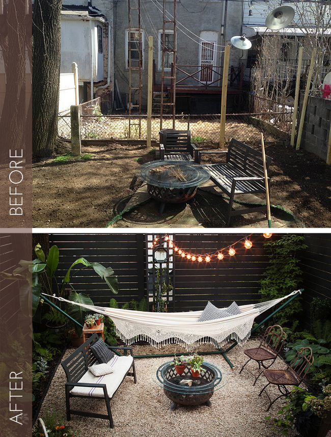 Check out these 7 great ideas to create a stylish backyard. This before and after is so amazing. Found on One Kings Lane.