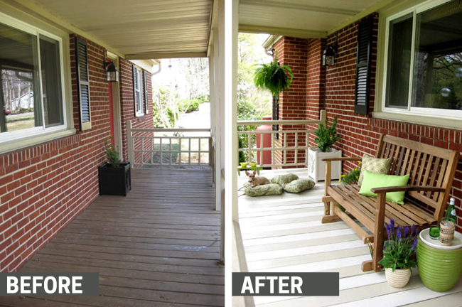 I really love how this painted deck turned out. Love it. Found on Young House Love.