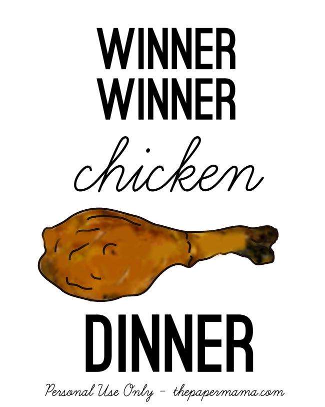 Winner Winner Chicken Dinner // thepapermama.com