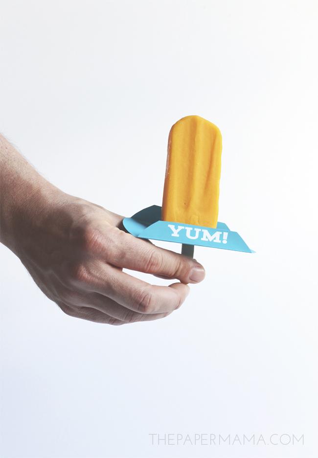 Frozen Treat Drip Catcher free printable // thepapermama.com