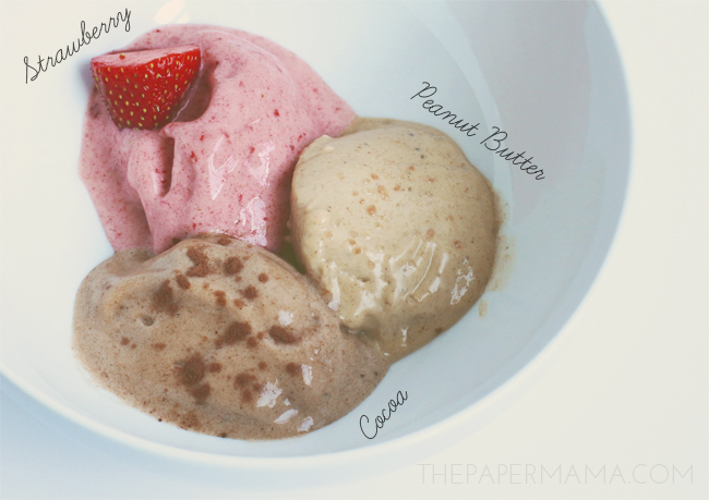 Banana Ice Cream 3 Ways // thepapermama.com