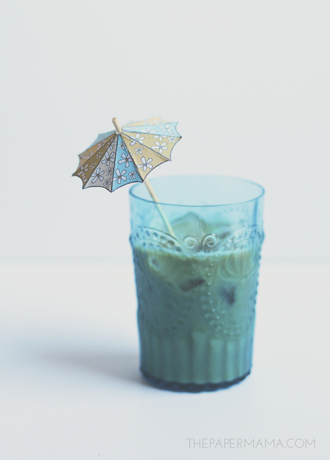 Drink Umbrella Stirrer // thepapermama.com