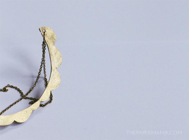 Shrinky Dink Scallop Necklace DIY