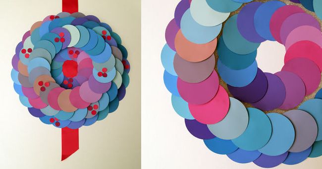 All you need is a 3-inch hole punch and some colorful paper to make this pretty wreath, on Craft Stylish.