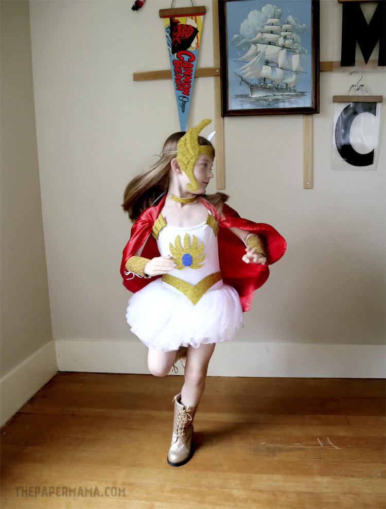 & She-ra Kids Costume DIY (with free pattern printable)