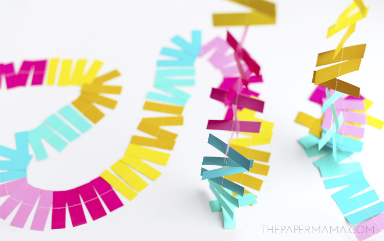 Sprinkles Paper Strip Garland and Backdrop