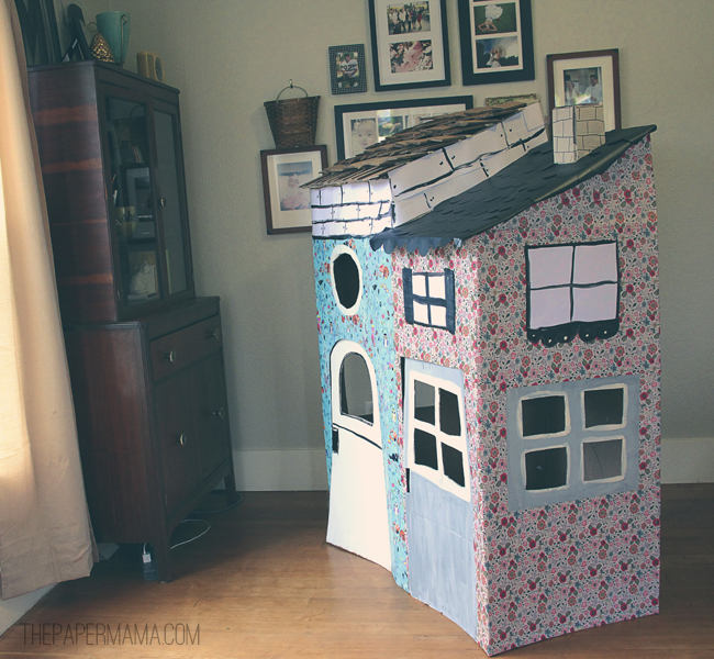 cardboard playhouse diy