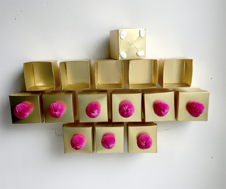 Golden Tree Advent Calendar DIY