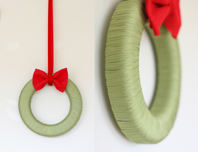 I really love how simple and lovely this wreath is, on Say Yes.